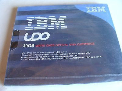 "*NEW* IBM UDO 30GB Optical Disk 23R2567 5.25"" Cartridge Write Once Worm Sealed"