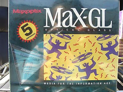 Maxoptix MaX-GL 1GB 1024 Optical Glass RW 1015388RW Jukebox Certified Pack Of 5