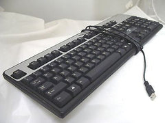 HP Hewlett-Packard KU-0316 Black/Silver Keyboard with USB Interface - Micro Technologies (yourdrives.com)