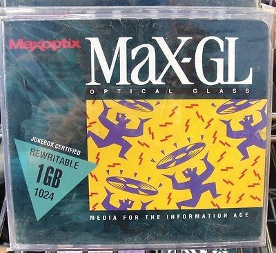 Maxoptix MaX-GL 1GB 1024 Optical Glass Rewritable 1015388RW Jukebox Certified
