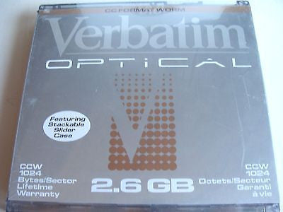 "*New* Verbatim 2.6GB 5.25"" MO CCW WORM 1024 Bytes/Sector 91412"