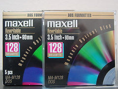 Maxell 128mb MO Media MA-M128  Factory Sealed 90mm  EDM-128 - Micro Technologies (yourdrives.com)