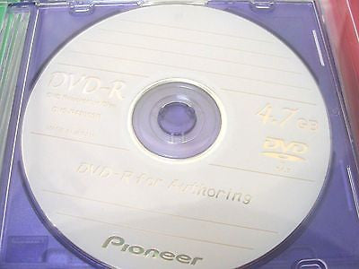 *New* 5 Pack PIONEER DVS-R4700SP DVD-R Discs for Authoring 4.7GB