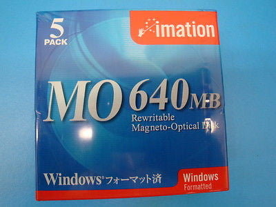 "Imation 640mb Media Win Format Box of 5 -Clamshell *NEW* 3.5"" - Micro Technologies (yourdrives.com)"