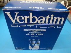 Verbatim 92842 MO Media 4.8GB RW Qty 5 *NEW*   1024 b/s  EDM-4800C EDM-4800C - Micro Technologies (yourdrives.com)