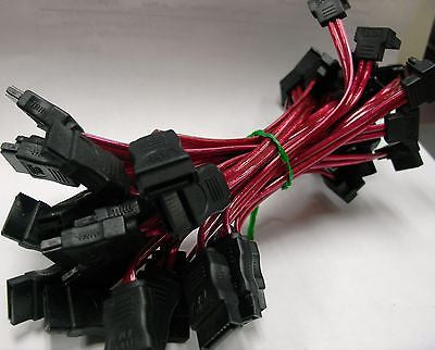 25 bundle SATA Right Angle to Straight DATA HDD Hard Drive Cable(C-619-25PK)