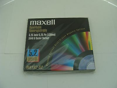 *NEW* Maxell MA192-S2 5.2GB RW Optical Disk Media 2048 b/s - same as EDM-5200C