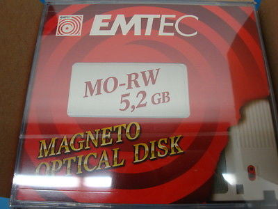 EMTEC  5.2GB NEW SEALED RW Optical Disk  EDM-5200B EDM-5200C Box of 10 pieces