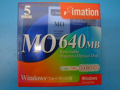 "Imation 640mb  NEON Media Win Box of 5 -Clamshell *NEW* 3.5"" - Micro Technologies (yourdrives.com)"