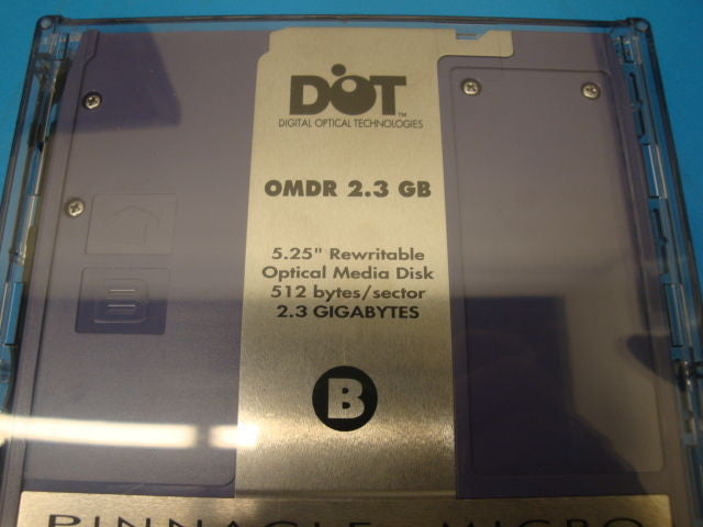 Pinnacle Micro 2.3GB RW Optical Disk in Plastic Case 512 B/S EDM-2300B EDM-2300C - Micro Technologies (yourdrives.com)