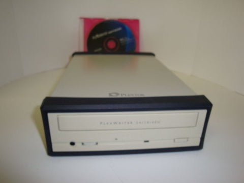External Plextor PX-W2410TU 24/10/40 CD-RW Drive USB & Burn Software Included