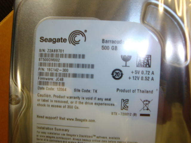 "Seagate 500GB 3.5"" ST500DM002 SATA 6.0GB/s HDD Factory Sealed SATA 600 - Micro Technologies (yourdrives.com)"