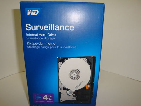 "3 Year NEW - Western Digital Surveillance 4TB Int  3.5"" WDBGKN0040HNC-NRSN"