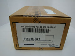 NEW HP 605835-B21 1TB Internal 7200RPM 2.5'' SAS Hard Drive in Tray 606020-001 - Micro Technologies (yourdrives.com)