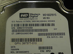 WD1002FBYS 1TB Hard Drive 3.0GB SATA in an HP MDL tray (454273-001) # 507515-002 - Micro Technologies (yourdrives.com)