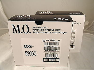 Sony MO Media EDM-5200C 5.2GB RW *NEW* Optical Disk 2 Five Pack Boxes - Micro Technologies (yourdrives.com)