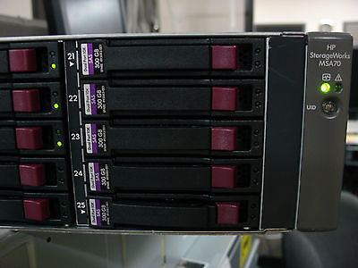 HP MSA70 SAS Drive Array 418800-B21 w 6 X 300GB SAS Drives 597609-001 652564-B21 - Micro Technologies (yourdrives.com)