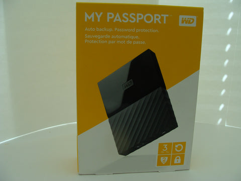 *NEW* WD 3TB MY PASSPORT PORTABLE BLACK WDBYFT0030BBK