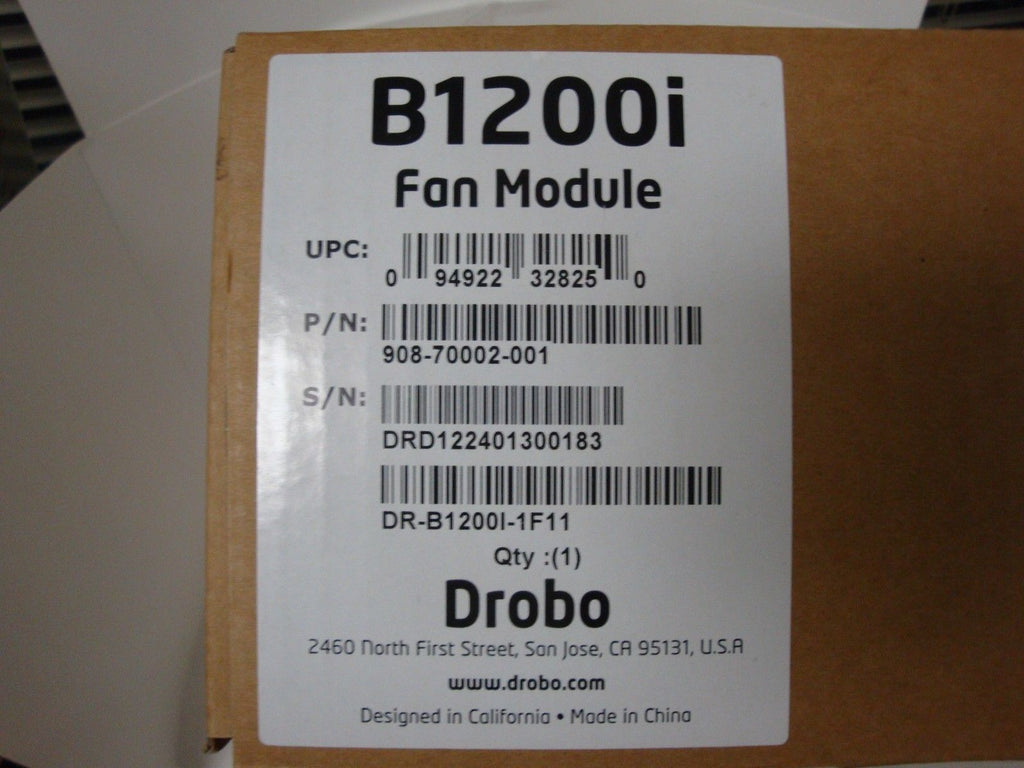 DROBO B1200i Fan Assembly  DR-B1200I-1F11 908-70001-001 - Micro Technologies (yourdrives.com)