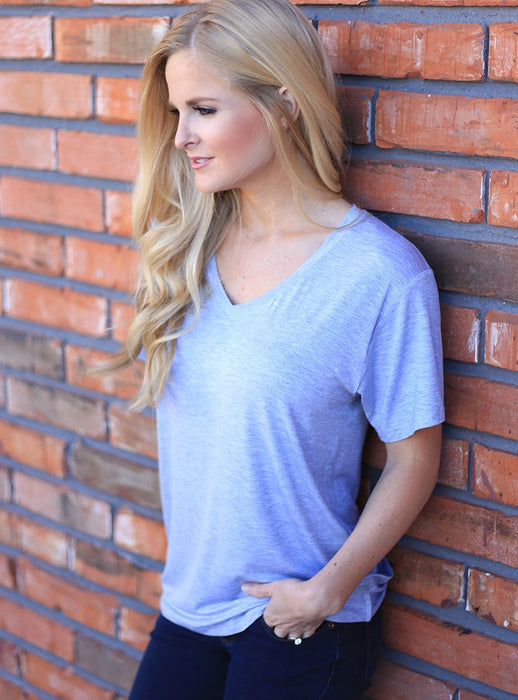Flock Tee | Heather Grey