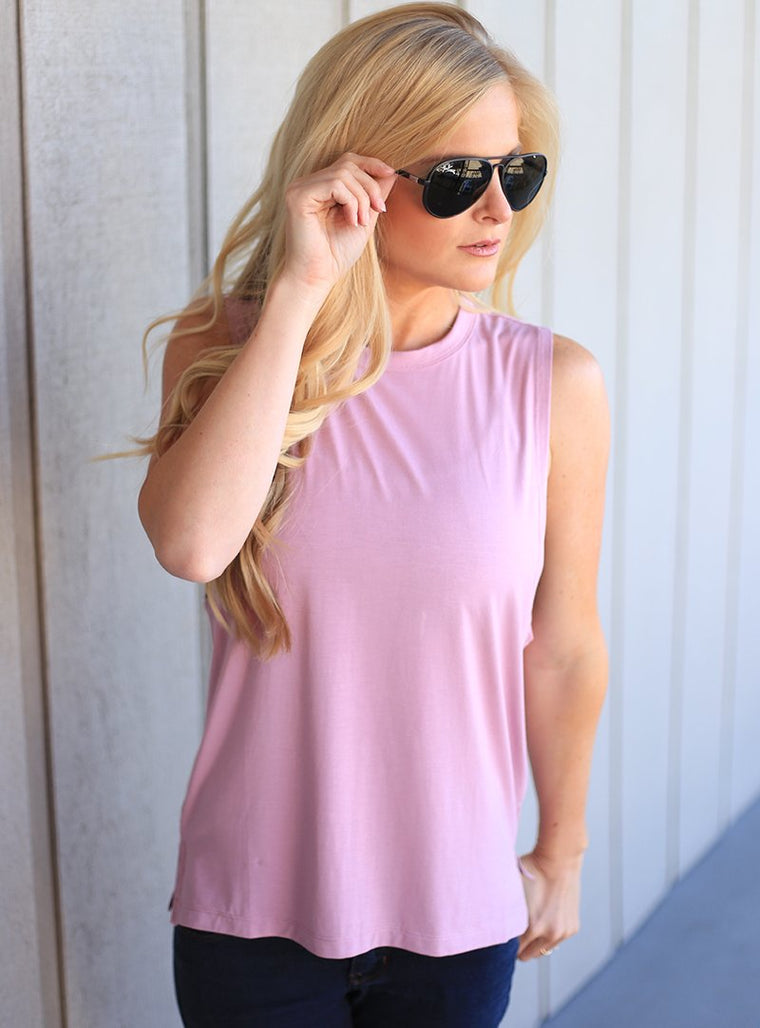 Kids Mauve Muscle Tank