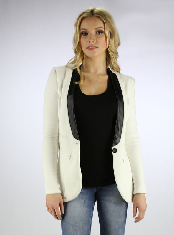 Ivory Fleece Blazer