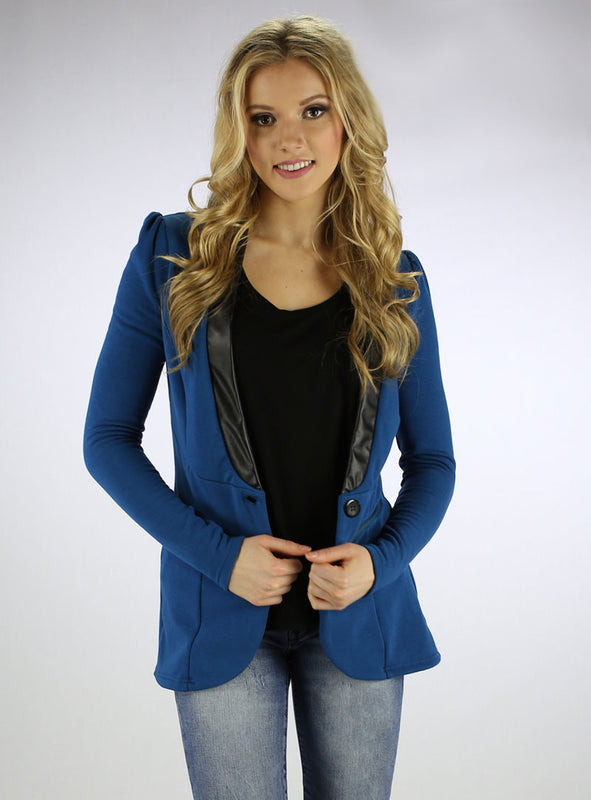 Fleece Blazer Front