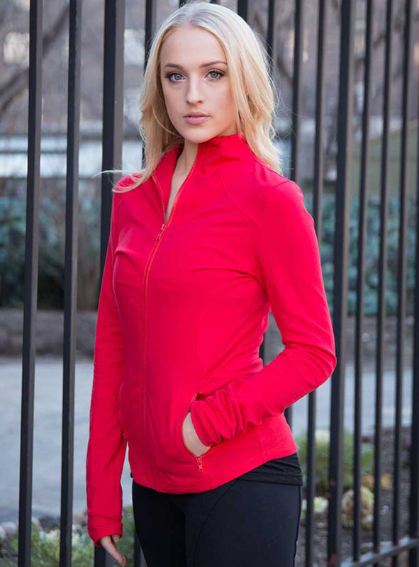 Lightweight Track Jacket in Red
