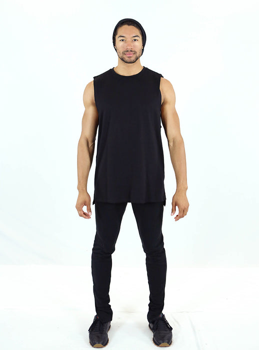 Culture Tank | Black Slub Cotton