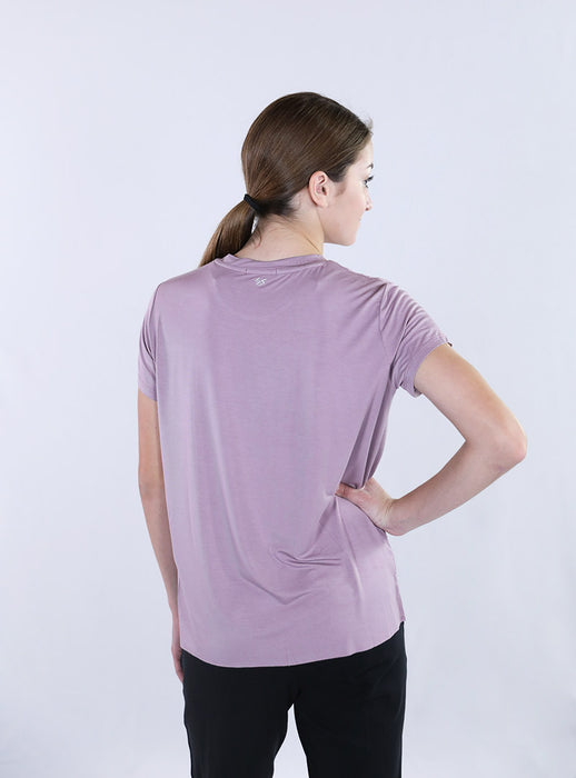Rough Cut Crewneck Tee | Lilac Purple