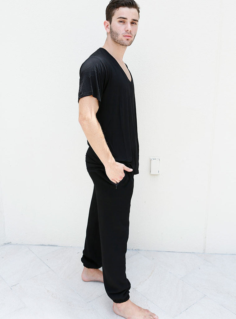 Black Sweatpants with Pockets