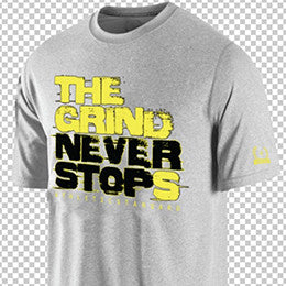 "Athletic Standard's  ""THE GRIND NEVER STOPS"" T-Shirt"