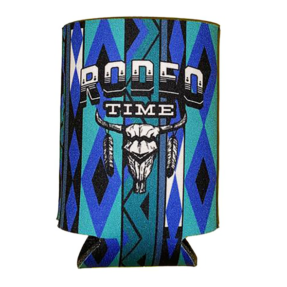 Rodeo Time Skull Can Cooler