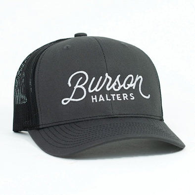 Burson Halters Charcoal & Black Mesh Precurved