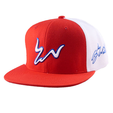 Cody Webster Logo Red & White Meshback