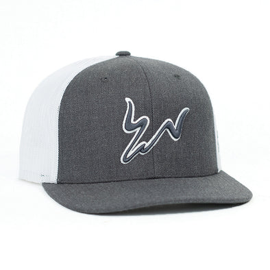 Cody Webster Charcoal & White Meshback Flatbill