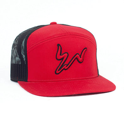 Cody Webster Red & Black Mesh Flatbill
