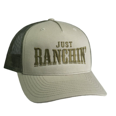 Just Ranchin Olive Mesh Precurved