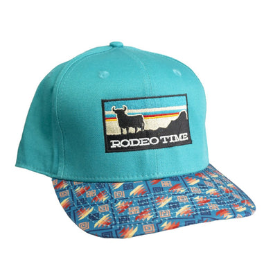 Sunset Teal Crown/Santa Fe Bill Flatbill