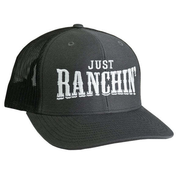 Just Ranchin Charcoal & Charcoal Mesh Precurved