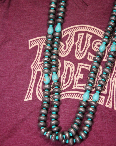 Navajo Pearl Necklace with Turquoise