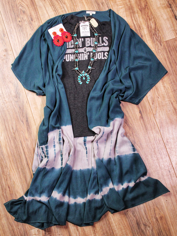 Teal Ombre Dye Duster