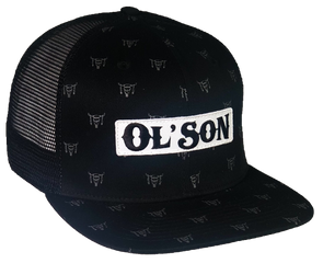 *NEW* Ol' Son Patch Skull Black Mesh Flatbill