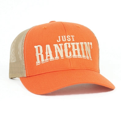 Just Ranchin Rust & Tan Mesh Precurved