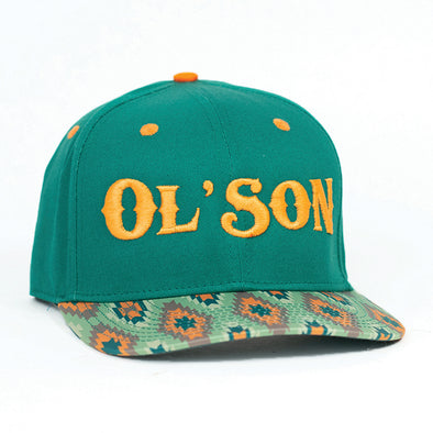Ol' Son Green & Orange Aztec Flatbill