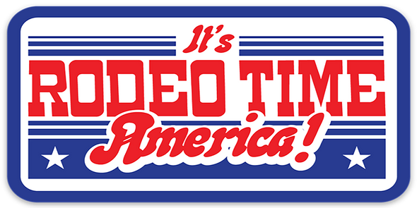 It's Rodeo Time America Decal
