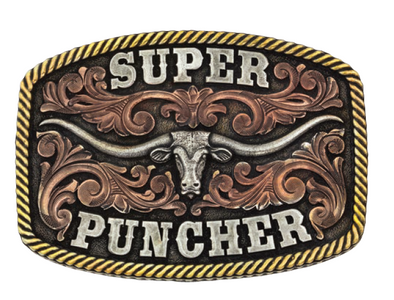 *NEW* Montana Silversmiths Super Puncher Buckle