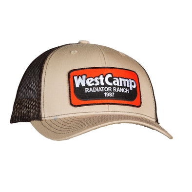 West Camp Khaki Brown Mesh Precurved