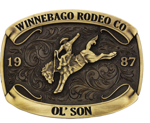 *NEW* Montana Silversmiths Winnebago Rodeo Champion