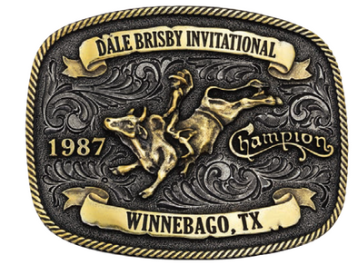 *NEW* Montana Silversmiths 1987 Invitational Champion Buckle